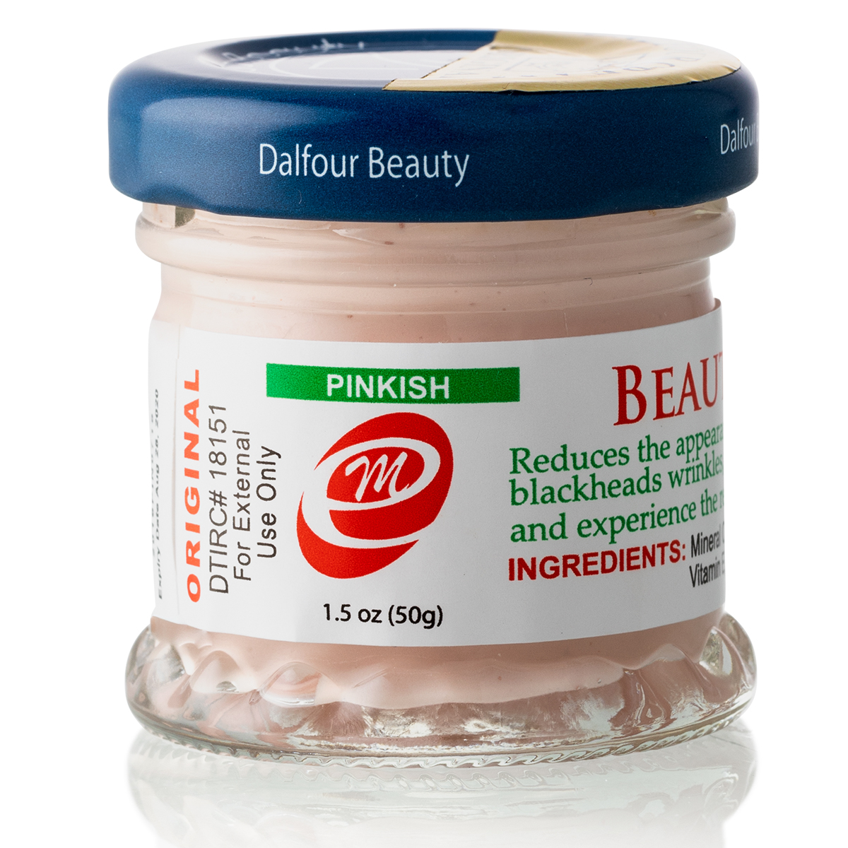 12 Jars of Authentic Dalfour Beauty Gold Seal Whitening Cream Pinkish Cream - For Skin That Needs Extra Moisture