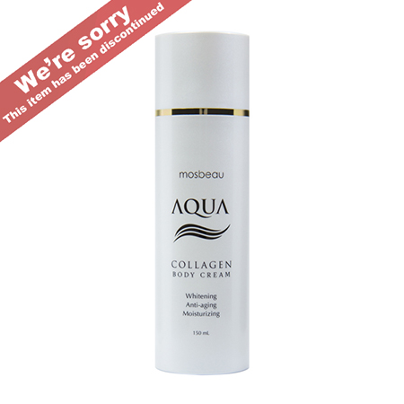 Authentic Mosbeau AQUA Collagen Body Cream - Collagen and Hyaluronic Acid for Whitening, Reducing the Appearance of Aging and Moisturizing- NEW FORMULA!