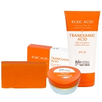 SALE 15% OFF!! Belo Intensive Kojic & Tranexamic Acid Whitening Set - Body Cream, Face/Neck Cream and Soap