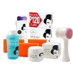 Kojie San Face & Body Complete Whitening !!! - W/ 3 Bars Soap, SPF Body Lotion, Face Cream, Toner, and Brush