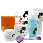 Kojie San Total Skin Lightening Set - Soap,Toner, Lotion, Cream  & Brush!