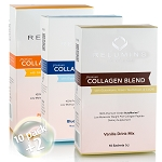 Relumins Premium Collagen Blend 10 Sachets - 100% Premium-Grade ActuMarine Collagen with Glutathione, Green Tea Extract & CoQ10! SALE 20% More Free!!