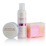 3pc Premium Face & Body Whitening Set w/ Glutathione, Rosehip, and Kojic Acid