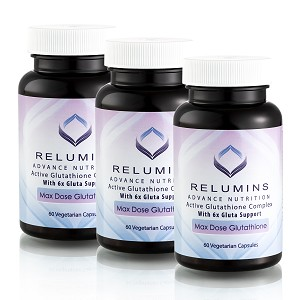 Buy Bulk & SAVE! 3 Bottles Authenic Relumins Advance White Active Glutathione Complex -Oral Whitening Formula Capsules with 6X Boosters
