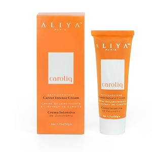 Authentic Aliya Paris Carotiq Carrot Intense Cream - Hydrating, Lightening Face Cream with Beta Carotene