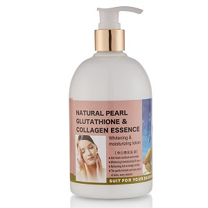 Natural Pearl Whitening Lotion with Glutathione & Collagen-Large 500ml