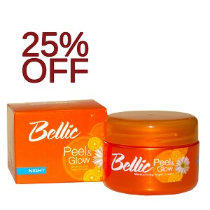 25% OFF!!! Bellic Peel and Glow Moisturizing Night Cream- Kojic Acid and Vitamin E work over night to reveal your Glow by Morning