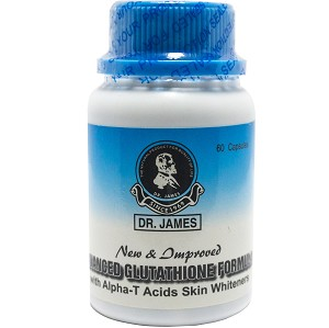AUTHENTIC Dr. James  Advanced Glutathione Formula Skin Whitening Capsules - 1000 Milligrams!
