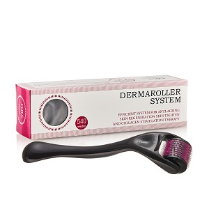 Professional 540 Needle Derma Roller & Micro Needling Therapy System-For Fine Lines, Wrinkles & Acne Scars