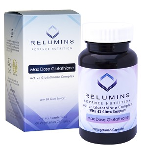 NEW Relumins Advance White Active Glutathione Complex -Oral Whitening Formula Capsules with 6X Boosters- Whitens, repairs & rejuvenates skin