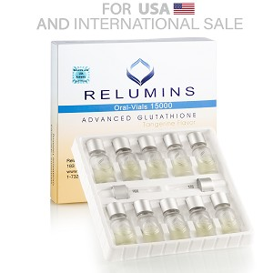 Authentic Relumins Glutathione Vials - New Advanced Formula 15000mg  - Professional Grade Skin Whitening  - USA  FDA compliant