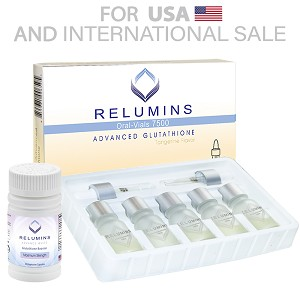 5 Sets of Relumins Glutathione Vials - New Advanced Formula 15000mg  - Professional Grade Skin Whitening PLUS Gluta Booster  - USA  FDA compliant