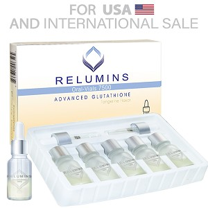 5 Sets of Authentic Relumins Glutathione Vials - New Advanced Formula 7500mg  - Professional Grade Skin Whitening  - USA  FDA compliant