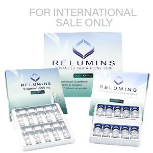 Authentic Relumins Advanced IV Glutathione 1400mg - Glutathione & Vitamin C - NO BOOSTER