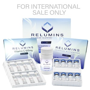5 Sets Authentic Relumins Advanced IV Glutathione 2000mg PLUS Booster - Glutathione & Vitamin C with Gluta Boosters