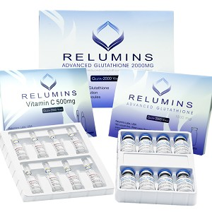 5 Sets of Authentic Relumins Advanced Glutathione 2000mg - Glutathione & Vitamin C - NO BOOSTER