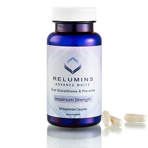 30 Bottles of Authentic Relumins Advanced White Oral Whitening Formula Capsules - Whitens, repairs & rejuvenates skin - NEW AND IMPROVED now with Rose Hips