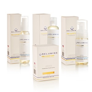 Authentic Relumins Professional Clear Set with Blemish Fighting Botanicals
