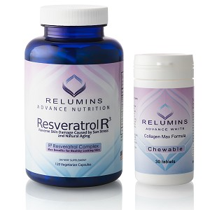 Relumins Advanced Chewable Collagen Formula & R3 Skin Rejuvenation Stack