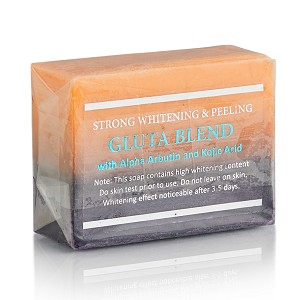 12 Bars of Premium Maximum Whitening/Peeling Soap w/ Glutathione, Arbutin, and Kojic acid