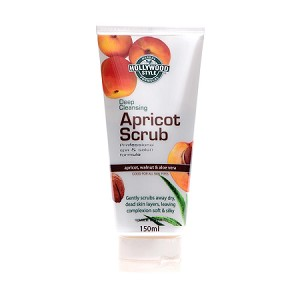 Hollywood Style Deep Cleansing Apricot Scrub - Professional Formula, Soothes, Freshens & Exfoliates Skin