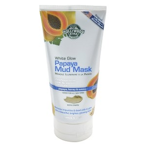 Hollywood Style White Glow Papaya Mud Mask - Refines, Purifies, & Exfoliates