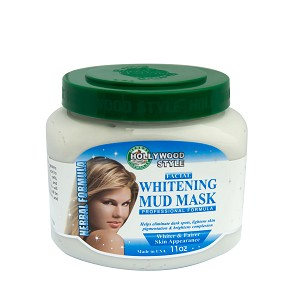 Hollywood Style Facial Whitening Mud Mask - Professional Formula - 320ml, 600lm