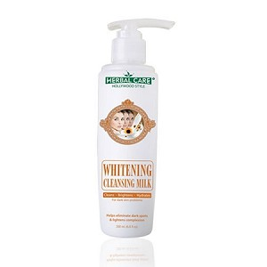 Hollywood Style Whitening Cleansing Milk - Herbal Care For Dark Skin Problems