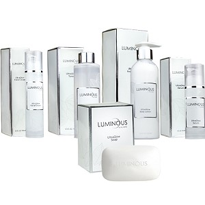 Luminous UltraGlow Complete Set - Cream, Lotion, Serum, Soap and Toner!!  Bright and Glowing Skin Set  from RELUMINS