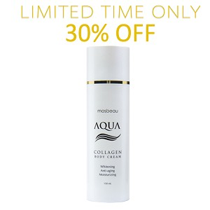 SALE 30% OFF!!!!  Authentic Mosbeau AQUA Collagen Body Cream - Collagen and Hyaluronic Acid for Whitening, Reducing the Appearance of Aging and Moisturizing- NEW FORMULA!