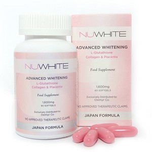 Nuwhite Advanced Whitening L-Glutathione Collagen & Placenta Capsules
