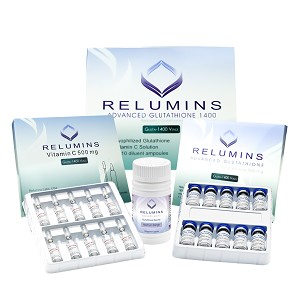 5 Sets of Authentic Relumins Advanced Glutathione 1400mg - Glutathione & Vitamin C - PLUS Gluta Booster- International
