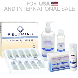 Authentic Relumins Advanced Whitening Intensive Repair and Whitening Set 15000mg Oral Vials