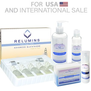 Authentic Relumins Advanced Whitening Intensive Repair and Whitening Set 7500mg Oral Vials