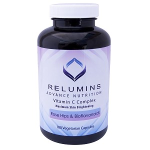Relumins Advance Vitamin C - MAX Skin Whitening Complex With Rose Hips & Bioflavinoids - 180 Capsules (90 Day Supply)