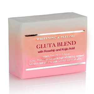 5 Bars of Premium Whitening/Peeling Soap w/ Glutathione, Rosehip and Kojic acid - For Normal Skin