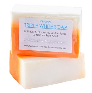 3 Bars of Kojic Acid, Placenta, & Glutathione Triple Whitening Soap appx. 150gms