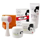 Kojie San Face & Body Whitening 5pc Set - W/ Soap, Body Lotion, Face Cream and Brush