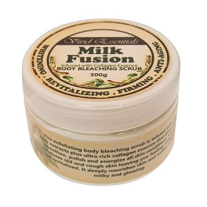 Authentic Vivid Essentials Body Whitening Milk Salt Scrub With Collagen- Firming, Whitening and Moisturizing